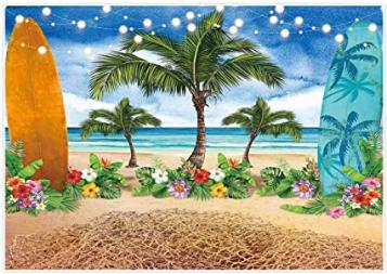 Summer Beach Ocean Photography Backdrops Blue Sky Seaside Wallpaper
