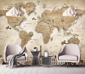 Brown World Maps Wallpaper World Map Mural Wall