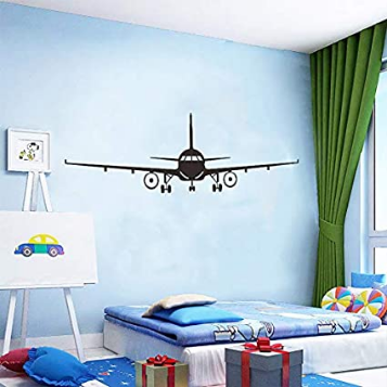 Removable Wall Decal, Cool Airplane Mural,