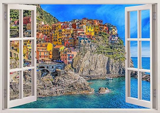 Beautiful Italy Coast 3D Wall Art