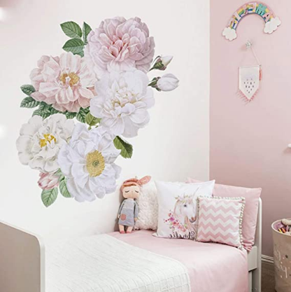 Flower Wall Stickers Bedroom Wall Decor for Living Room Girls Room