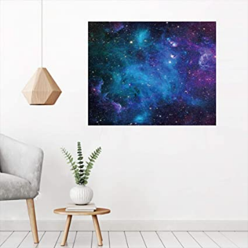 Universe Milky Way Print Removable Sticker Canvas Mural Wall Ar