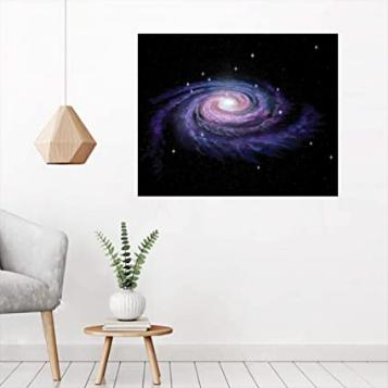 Celestial Dust Votex Spiral Galaxy Nebula Fantasy Spark Plasma Stars Planet Print Removable Sticker