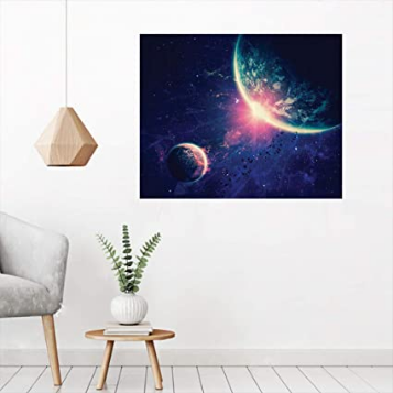 Outer Space Theme Planet Earth and Mars