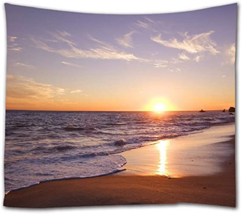 Coastal at Sunrise Time Fabric Wall Tapestries