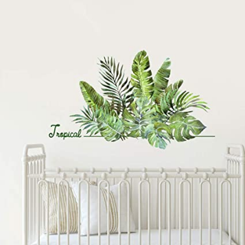 Green Tropical Monstera Wall Decor, Bedroom Living Room Kitchen Wall Decorations