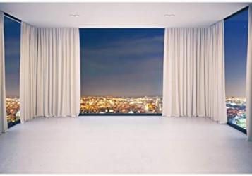 Modern Night City View Background Wallpaper