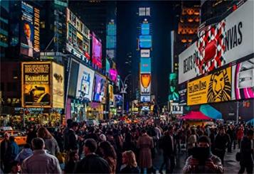New York Broadway Nightscape Modern Cityscape Wallpaper