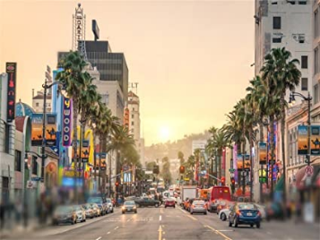 Hollywood Walk Background Los Angeles Wallpaper