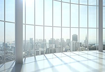 Window View Photography Backdrops Empty Room City Landscape Wallpaper