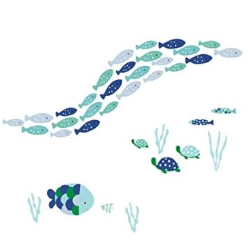 Lambs & Ivy Oceania Aqua/Blue Aquatic Fish Wall Decals