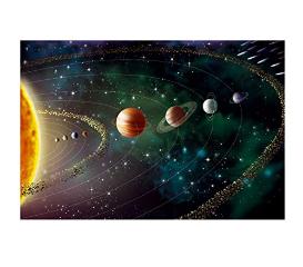 Planet Vinyl Sticker and Cosmos Vinyl Sticker