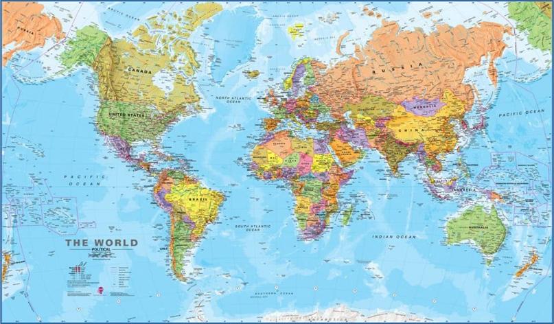 Maps International Giant World Map