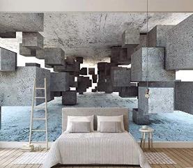 Wallpaper Geometric Corridor Wall Mural Modern Living Room Decor