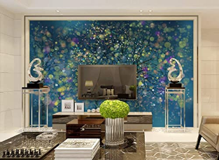 Murwall Abstract Wallpaper Dark Light Beam Wall Mural Tree Landscape Wall Print Modern Home Decor Cafe Design Living Room