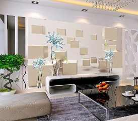Wallpaper Floral Wallpaper Turquoise Jewel Flower Wall Mural Abstract Wall Print