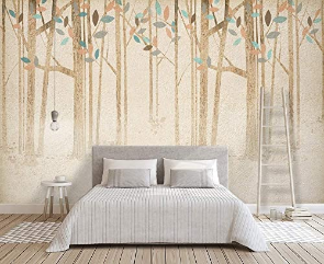 Forest Wallpaper Brown Tree Wall Mural