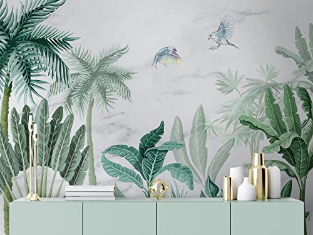 Forest Wallpaper Palm Tree Wall Mural