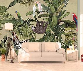 orest Wallpaper Vintage Mural Jungle Wall Mural Vintage Cafe Decor Living Room
