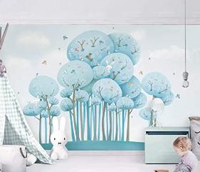 Murwall Wallpaper Cartoon Forest Wall Mural Nursery Wall Decor Watercolor