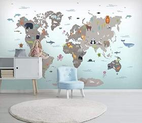 Wallpaper Child World Map Wall Mural