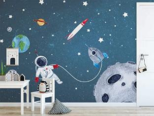 Space Wall Mural Watercolor Meteor Wall Mural