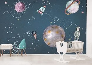 Wallpaper for Boys Space Wall Mural