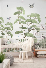 Wallpapers for Nursery Forest Wall Mural Green Tropical Tree Wall