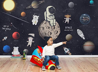 Kids Space Wall Mural Astronaut Wallpapers