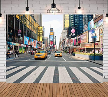 NYC Time Square Buildings Photo Wall Sticker