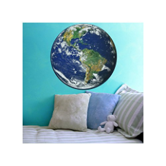 Planet Earth Wall Decal - Available in Various Sizes