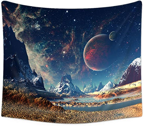 Boutique Tapestry Wall Hanging Wall Tapestry Galaxy Tapestry Planet