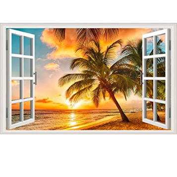 Fake Windows Wall Sticker Removable 3D