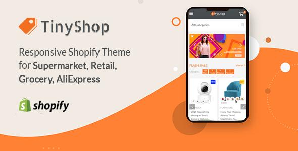 TinyShop - Responsive Shopify Theme for Supermarket & Retail store